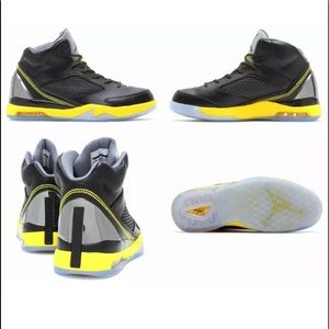 Original Nike Air Jordan Flight Remix Blk Yellow